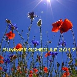 Summer schedule and -location 2017